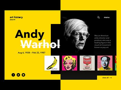 Pop Art Website Concept morenko website flat app web ui ux typography branding vector logo illustration apple design app design