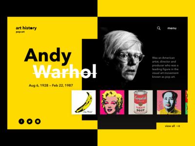 Pop Art Website Concept
