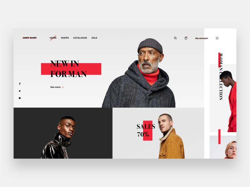 E-commerce website 👩💻 asos zara clothes e-commerce ecommerce main page website web typography logo flat branding ux ui apple design
