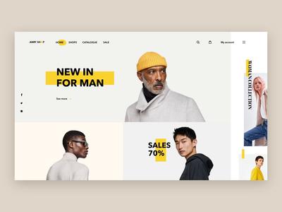 Оnline Store Anry Shop online store store shop type typography website animation web vector e-commerce flat logo branding ux ui design