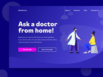 Medical Service Website service app site design medical app medical site identity type illustration website web vector typography logo flat branding app design ux ui design