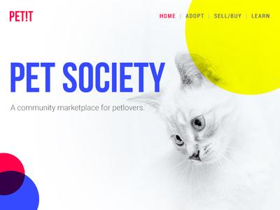 Landing page pet adoption pet business pet care petshop pet