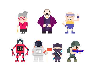 Geezers illustration cartoon characters