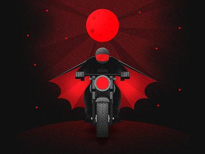 Wawatman illustration motorcycle dark band music