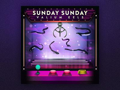 Sunday Sunday's Valium Eels rockband illustration