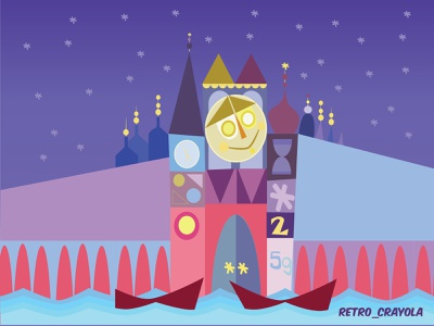 Small World adobe illustrator design sketch illustrator animation illustration adobe small world ride small world disney art