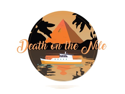 Death on the Nile illustrator graphic design adobe illustrator adobe illustration mystery