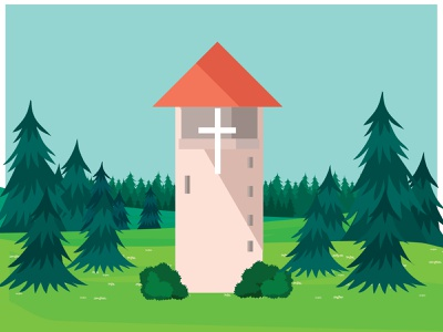 Judson Tower sketch graphic design adobe illustrator adobe illustration wisconsin