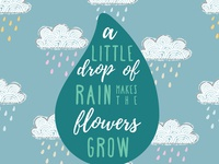 A Little Drop of Rain music song quotes musical quotes broadway les mis musicals design sketch graphic design adobe illustrator adobe illustration
