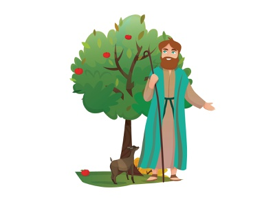 Biblical Shepherd shepherd biblical shepherd biblical shepherd illustrator sketch character design adobe illustrator adobe illustration