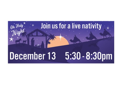 Nativity Scene Banner 2020 design illustrator character design graphic design adobe illustrator adobe illustration