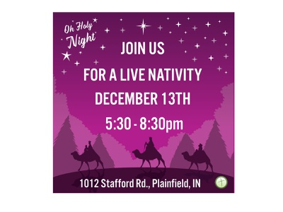 Live Nativity Social Media church flyer church marketing social media church social media church branding nativity church vector branding logo design illustrator character design graphic design adobe illustrator adobe illustration