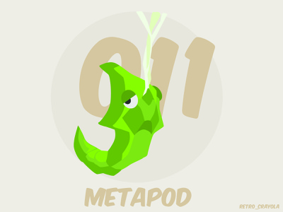Metapod metapod pokemon 90s gaming illustrator character design graphic design adobe illustrator adobe