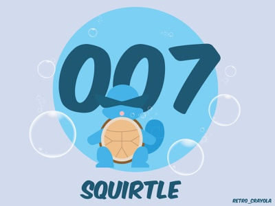 Squirtle 007 90s nintendo gaming graphic design adobe illustrator adobe illustration