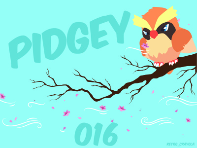 Pidgey design birds pidgey 90s nintendo gaming animation illustrator character design adobe illustrator adobe illustration