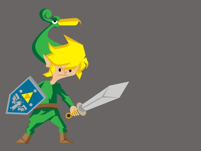 Link adobe illustrator animation character design illustration 90s n64 nintendo gaming zelda