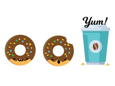 Morning Coffee adobe illustrator illustration animation character design design art society6 coffee