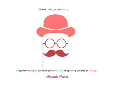 Hercule Poirot pop art society6 graphic design animation character design illustration adobe illustrator adobe quotes hercule poirot quotes