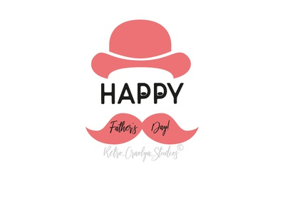 Happy Father's Day typography illustration graphic design holiday fathers day