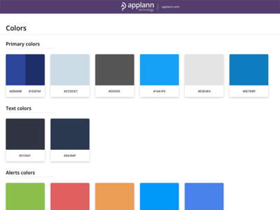 Design Style Guide colors palette ui style guide ui guide guidelines guide styleguide