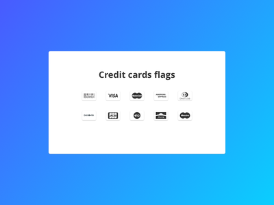 Credit cards flags aura discover jcb american express credit icon diners club maestro visa mastercard bank cards