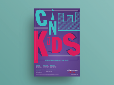 Fall 2016 CINEkids International Children's Film Series poster poster design poster art poster typographic poster typography graphic design design
