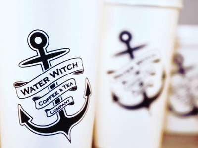 Water Witch Coffee & Tea Company logo design branding identity design brand design logo design graphic design