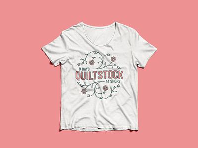 """Shop Hop """"Quilt Stock"""" T-Shirt flower illustration flowers quiltstock shirt design shirt vector typography logo illustration graphic design design"""