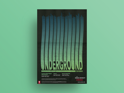 Fall 2017 Underground Film Series poster textures grit posters poster underground adobe illustrator film poster vector typography poster design poster art illustration graphic design design