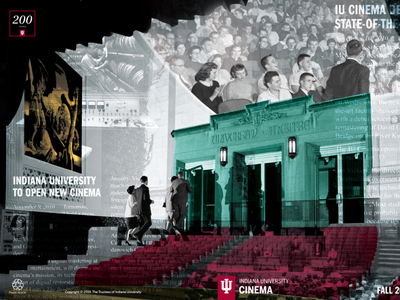 Indiana University Cinema Fall 2019 program booklet bicentennial publication design layout design layout cover artwork coverart collage cover design booklet design booklet book graphic design design