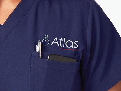 Atlas Emergency Physicians scrubs icon physicians medical logo atlas branding design brand identity brand design brand logo design logodesign branding logo graphic design design