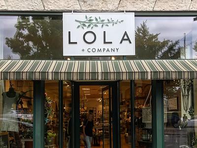 Lola and Company brick and mortar storefront signage logo design branding design brand identity brand design smallbusiness icon branding logo graphic design design
