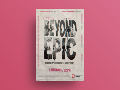 Beyond Epic film series poster and T-shirt collage texture t-shirt mockup t-shirt design t-shirt typography film poster poster design poster poster art graphic design design