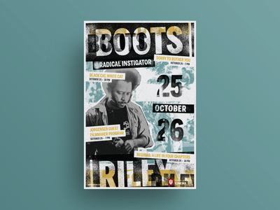 Boots Riley: Radical Instigator film series poster texture grit typography poster poster design poster art graphic design design