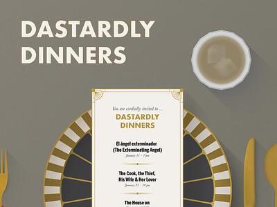 Dastardly Dinners film series poster vector illustration film poster poster design poster art poster graphic design design