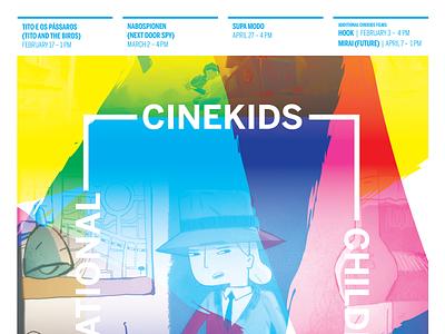 Spring 2019 CINEkids International Children's Film Series poster kidsfilms film poster poster design poster art poster graphic design design