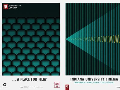 Indiana University Cinema Spring 2020 program booklet layout design graphic design book booklet bookdesign publication design cover design cover art layout layoutdesign iucinema