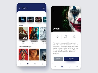 Movies genre film movies airline app design ui