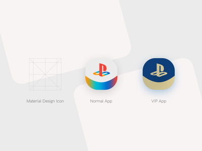 Play Station App Icon Design dailyui designasor hajilooei materialdesign gradientsterial ios maandroid playstation application app icon