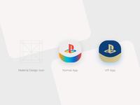 Play Station App Icon Design