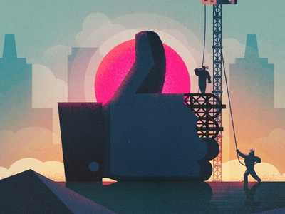 Big Thumb, Little People. wired uk illustration facebook like