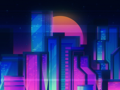 I Saw It On Twitch: Cyberpunk City illustration cyberpunk synthwave city