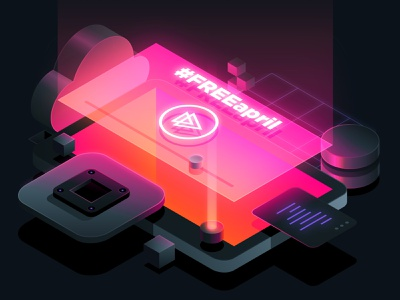 Pluralsight: Free April tech illustration freeapril free april pluralsight