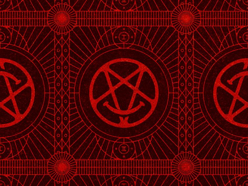 DC Pattern illustration sigils pattern