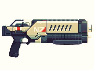 Epic Armory: N7 Crusader Shotgun mass effect shotgun gun epicarmory armory epic illustration weapon