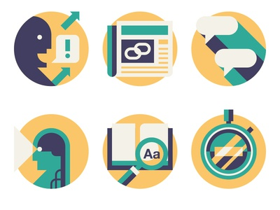 Wired UK - How To wired uk illustration newspaper icons social spot book magnifying glass stopwatch