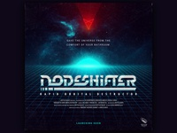 Nodeshifter - Title Card synthwave android ios game nodeshifter