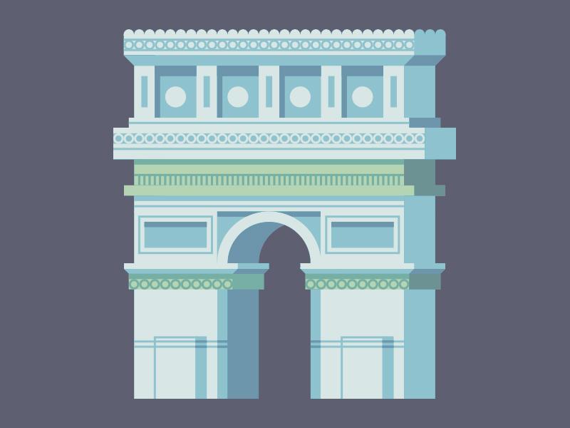 Arc de Triomphe arc de triomphe france architecture illustration