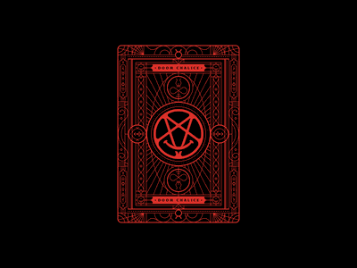 Doom Chalice: Backer sigil illustration game backer card