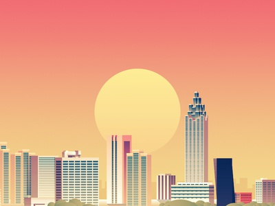 Wired - Atlanta wired atlanta illustration city